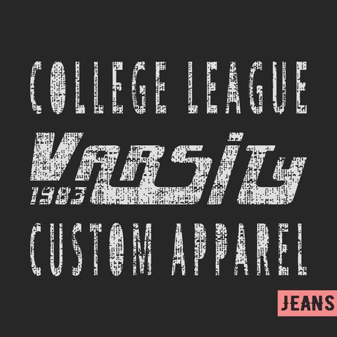 College League vintage stempel vector