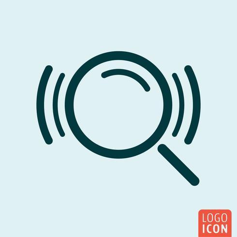 Zoek loupe pictogram vector