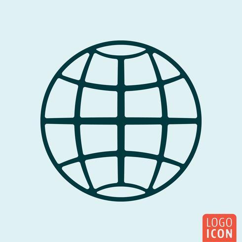 Earth globe pictogram vector