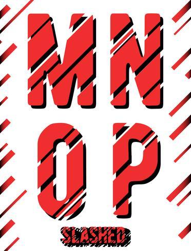 Gesneden lettertype sjabloon vector