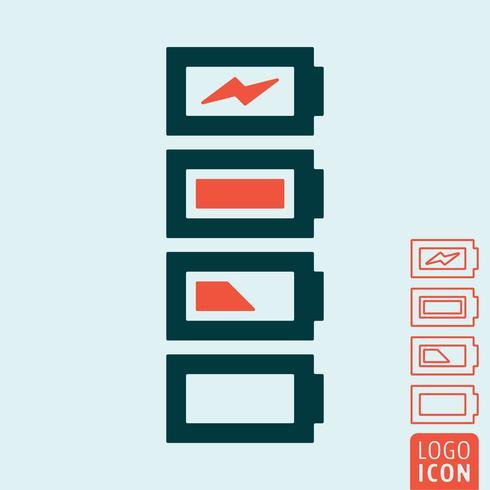 Batterij laad icoon vector