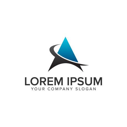 moderne technologie luxe letter Een logo ontwerpsjabloon. vector
