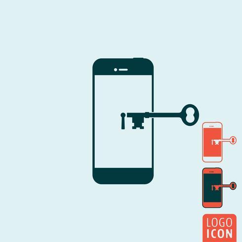 Smartphone veilig pictogram vector