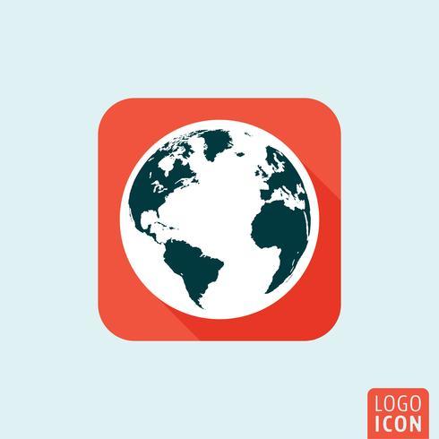Globe pictogram geïsoleerd vector