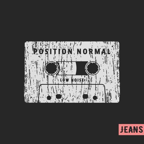 Compacte cassette vintage stempel vector
