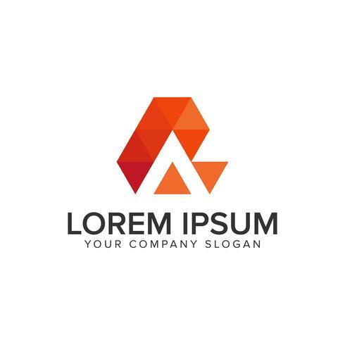 creatieve moderne letter Een logo ontwerpsjabloon. volledig edi vector
