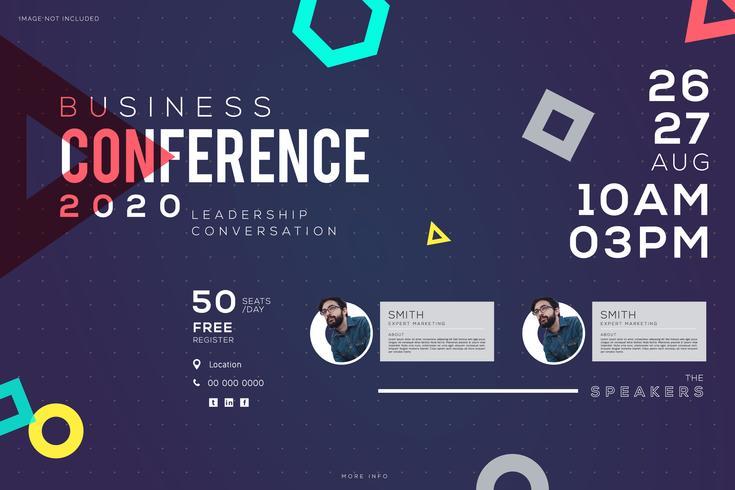 Business Conference meeting Zakelijk, creatief ontwerp vector