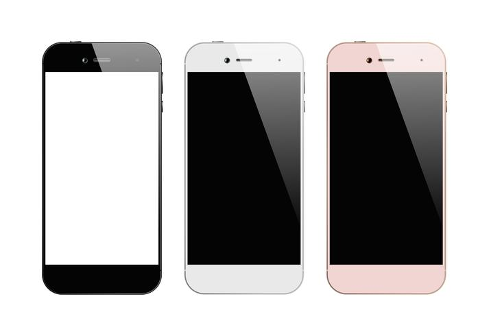 Smartphones drie kleuren vector