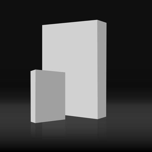 Twee 3D witte vakken op de grond, Mock Up sjabloon klaar voor uw ontwerp vector