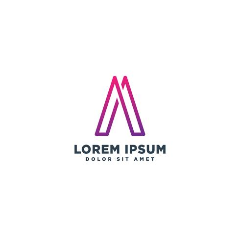 brief een abstracte eerste logo sjabloon vector illustratie pictogram element