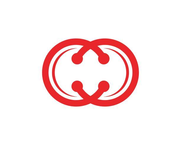 Technologie cirkel logo en symbolen Vector ..