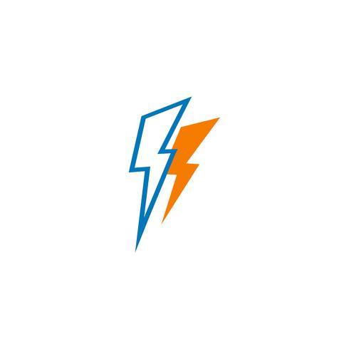 flash blikseminslag creatieve logo sjabloon vectorillustratie vector