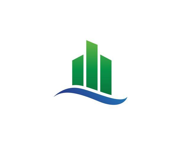 financieren logo en symbolen vector concept illustratie