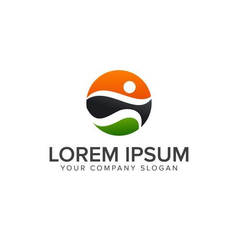 sport mensen Logo's, uitvoeren activiteit mensen logo ontwerp concept temp vector