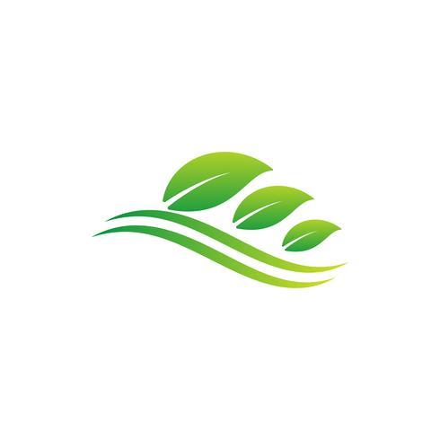natuur blad logo ontwerp vector illustratie pictogram element