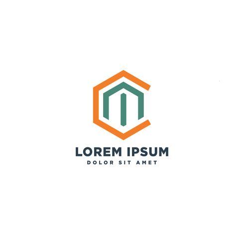 letter CM abstracte logo sjabloon vector illustratie pictogram element