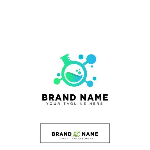 delen laboratorium logo ontwerpsjabloon vector concept illustratie
