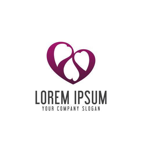 liefde verbinding mensen zorg logo ontwerpsjabloon concept vector