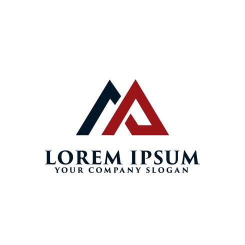 letter AM logo, onroerend goed logo ontwerpsjabloon concept vector