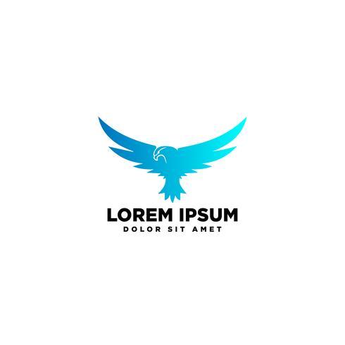 vliegende adelaar vogel logo sjabloon vectorillustratie en inspiratie vector