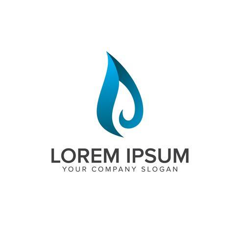 Vloeibare waterdruppel logo ontwerpsjabloon concept vector
