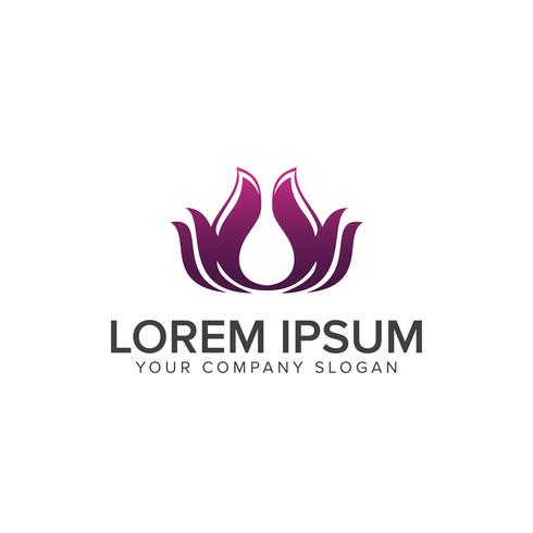 Lotus Flower Logo abstract Beauty Spa salon Cosmetica merk Line vector