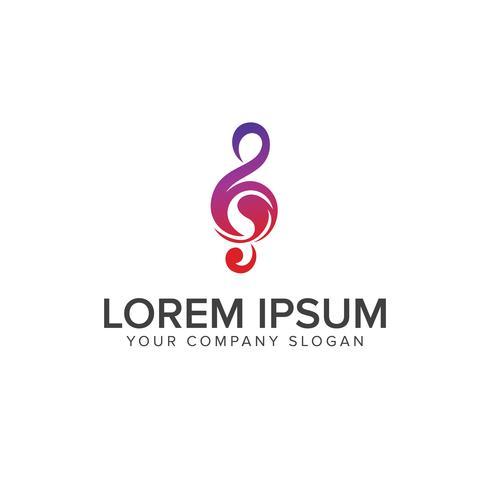 Muziektonen logo ontwerpsjabloon concept vector