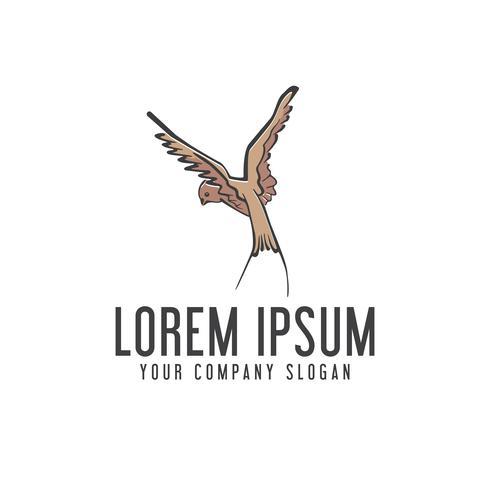 vogel logo. hand getrokken ontwerpsjabloon concept vector