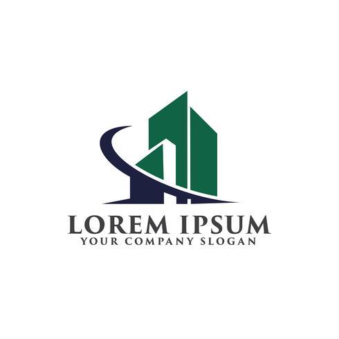 Bouwkundig, constructie, onroerend goed en hypotheek logo desig vector