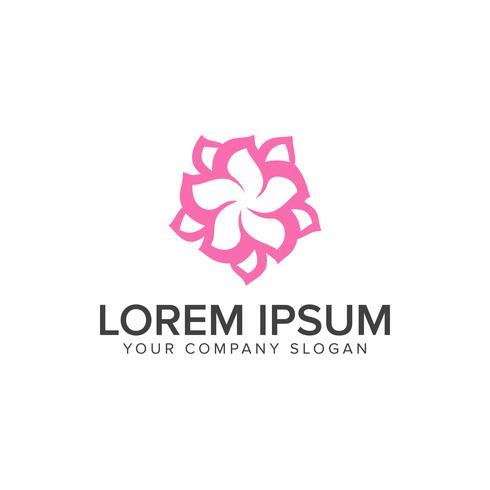 abstracte bloem logo ontwerpsjabloon concept vector