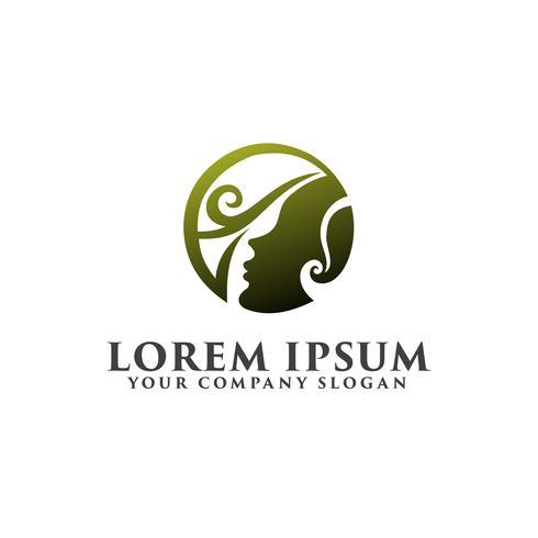 mooie mensen logo, spa schoonheid logo ontwerpsjabloon concept vector