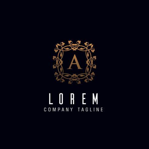 Letter A monogram logo ontwerpsjabloon concept vector