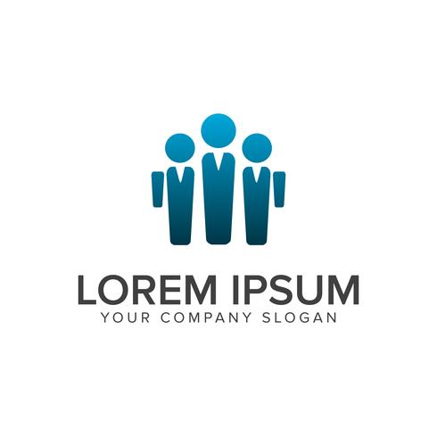 bussiness man people logo design concept sjabloon vector