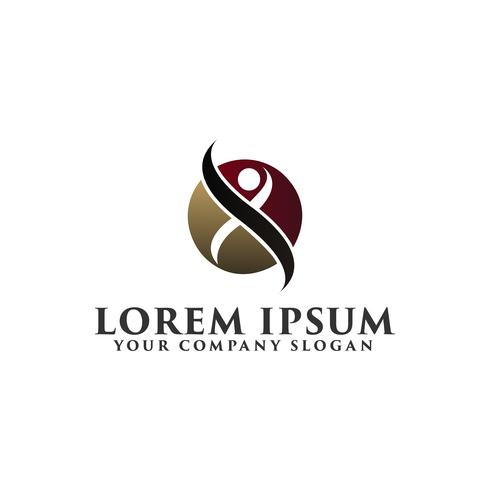 luxe mensen cirkel Logo ontwerpsjabloon concept vector