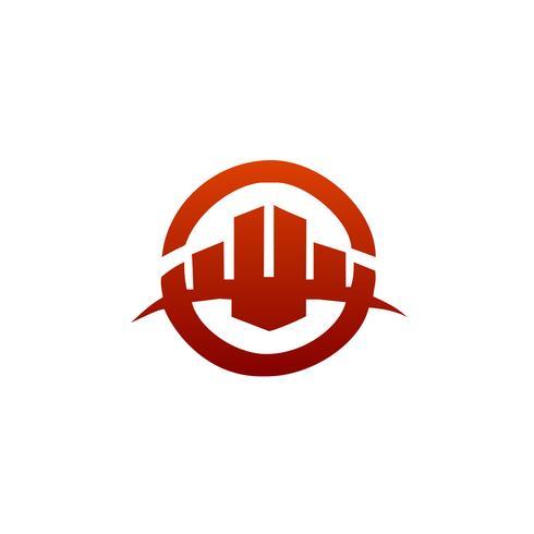 Architecturaal, bouw logo, onroerend goed en hypotheek-logo vector