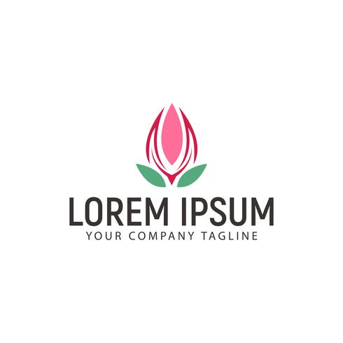 Bloem Logo ontwerpsjabloon concept vector