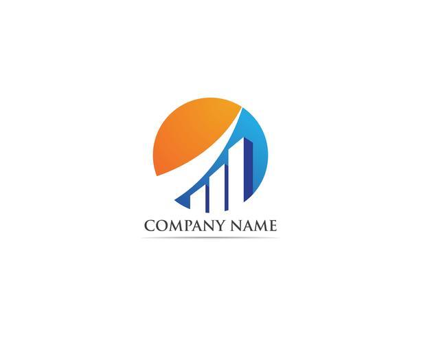 financieren logo en symbolen vector