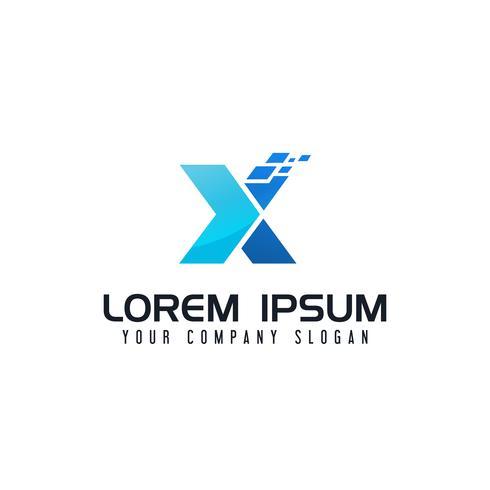 letter x logo. technologie ontwerpsjabloon concept vector
