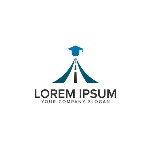 onderwijs weg logo ontwerpsjabloon concept vector
