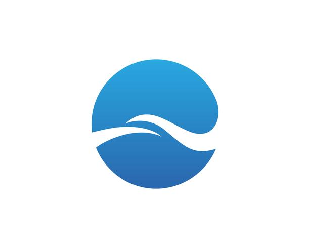 Water Wave symbool en pictogram Logo sjabloon vector