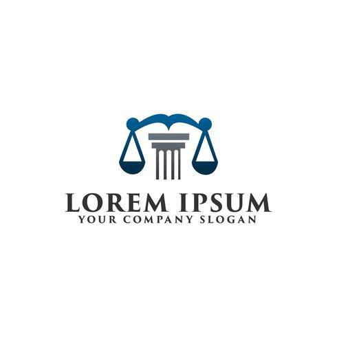 wet juridische logo ontwerpsjabloon concept vector