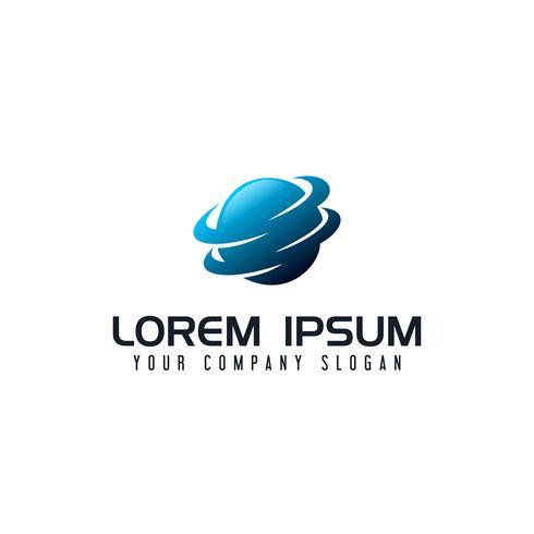 technologie wereldwijde logo ontwerpsjabloon concept vector