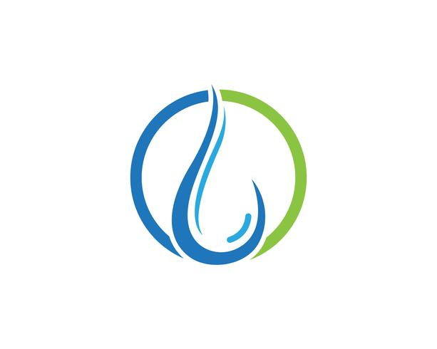 Waterdruppel Logo Template vector illustratieontwerp - Vector