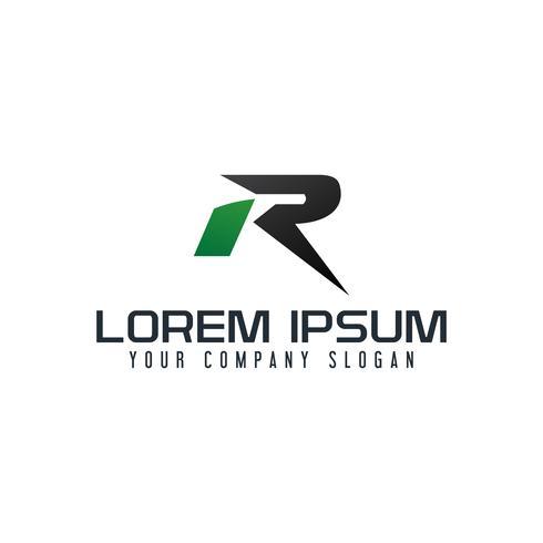 letter R-logo. snelle snelheid conceptontwerpsjabloon vector