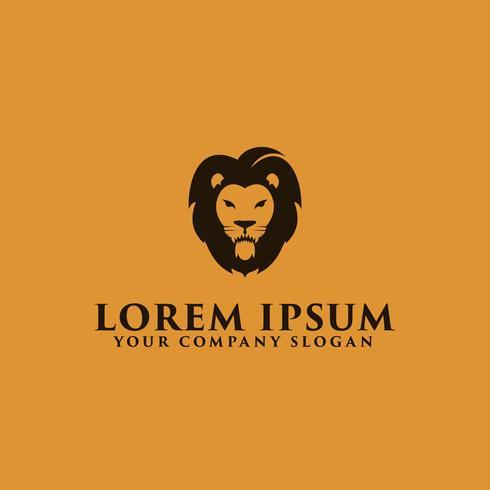 luxe eenvoudige leeuwenkop logo ontwerpsjabloon concept vector