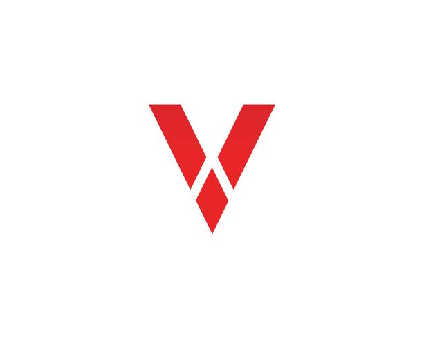 V logo bedrijfslogo en symbolenmalplaatje vector