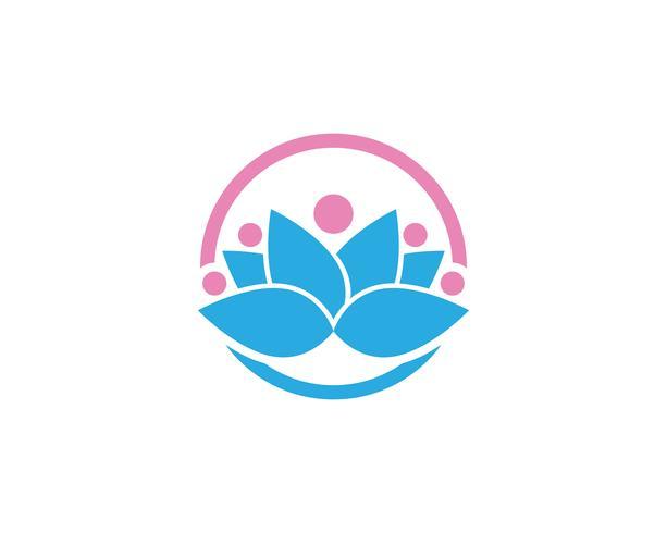 Lotusbloembord voor wellness, spa en yoga vector