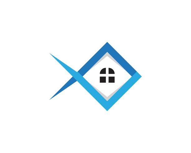 huis gebouwen logo en symbolen pictogrammen sjabloon vector