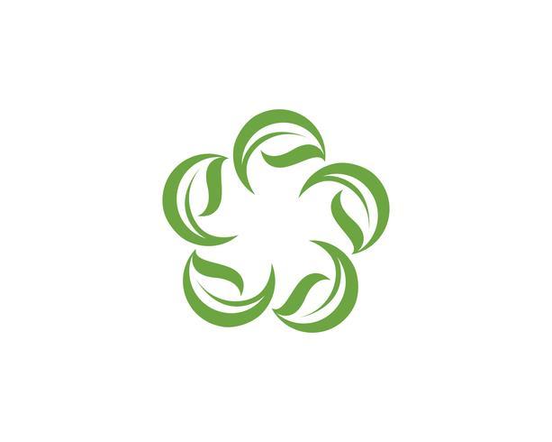 groen blad ecologie natuur element vector pictogram