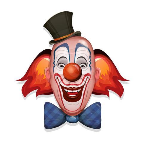 Circus Clown Gezicht vector